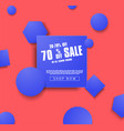 sale banner template with blue vector image