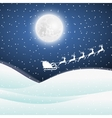 Santa Claus goes to sled reindeer vector image vector image