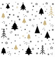 seamless pattern with christmas postcard vector image vector image