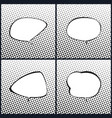 set of black and white speech bubble vector image