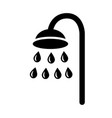 shower icon simple black flat clip art with water vector image