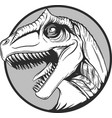 sketch of a cartoon dinosaur in vector image