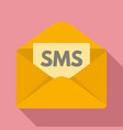 sms inbox icon flat style vector image