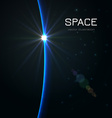 space sunset vector image vector image