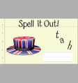 spell english word hat vector image