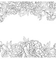spring flowers bouquet peony garland vector image