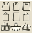 store bag set vector image