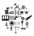 sturdy construction icons set simple style vector image vector image