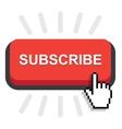 subscribe button icon vector image vector image