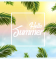 summer sales background with palm tree leaves vector image vector image