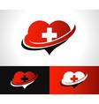 Swoosh Heart Logo Icon vector image vector image
