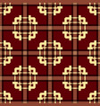 tartan seamless pattern with vintage color vector image