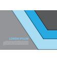 the abstract blue arrow gray design modern vector image