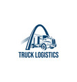 truck logo business symbols emblems vector image