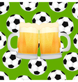 two mugs of beer vector image vector image