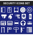 Video surveillance metal and alarm detectors vector image vector image