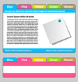 web template - easy change focus on any tab vector image vector image
