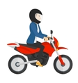 Woman riding motorcycle vector image