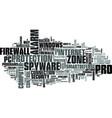 zonelabs zone alarm pro text word cloud concept vector image vector image
