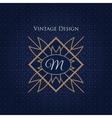 Simple and elegant monogram design template vector image