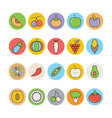 Fruits and Vegetables Icons 2 vector image