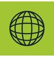 icon global earth globe design vector image