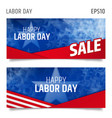 labor day horizontal banners vector image