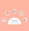 hospital in circular shape on vector image