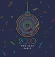 2020 new year party banner poster vinyl vector image vector image