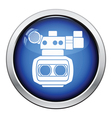 3d movie camera icon vector image