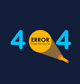 404 error with light of flashlight graphic on vector image vector image