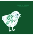 abstract blue and green leaves chicken vector image