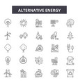 alternative energy line icons signs set vector image vector image