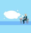 arab businessman sitting at office desk hold paper vector image vector image