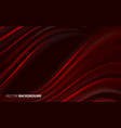 beautiful red textile silk for valentines day card vector image