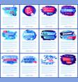 big winter sale set of posters vector image