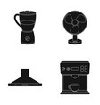 blender extractor and other equipmenthousehold vector image vector image
