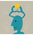 Blue Man Thinking vector image vector image