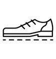 bowling shoes icon outline style vector image vector image