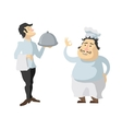 Characters cook and waiter isolated on white vector image vector image