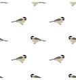 chickadee seamless pattern vector image