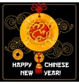 Chinese New Year greeting card and poster design vector image vector image