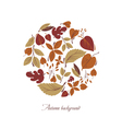 Circle from colorful leaves vector image vector image