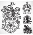 coat of arms shield ornaments vector image vector image
