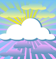 Colorful clouds and rays of the sun vector image vector image