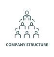 company structure line icon company vector image vector image