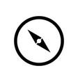 compass icon explore symbol vector image vector image