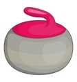 Curling stone icon cartoon style vector image vector image