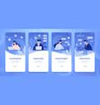 customer support banner social media stories vector image