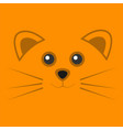 cute orange mouse face background vector image